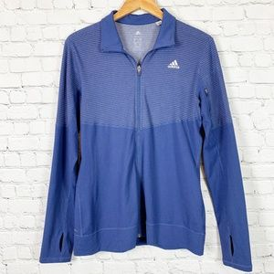 adidas Purple Stripe Lightweight Full Zip Jacket